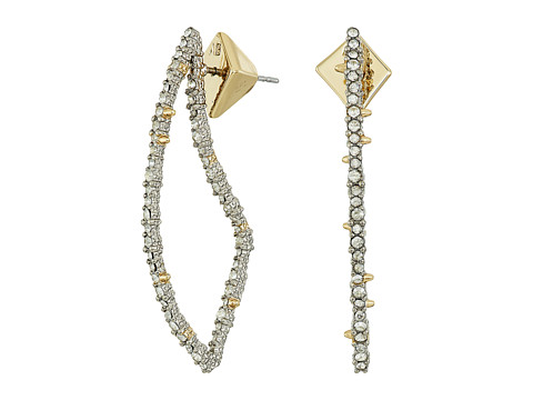 Alexis Bittar Crystal Encrusted Abstract Thorn Post Earrings
