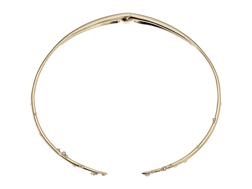 Alexis Bittar - Satellite Crystal Spike Hinged Collar Necklace