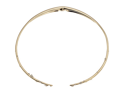 Alexis Bittar Satellite Crystal Spike Hinged Collar Necklace - 10K Gold