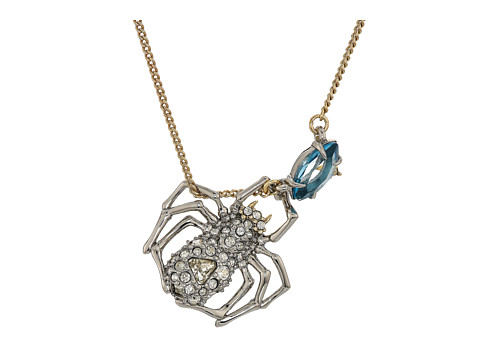 Alexis Bittar Crystal Encrusted Suspended Spider Pendant Necklace
