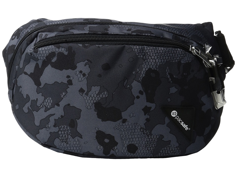 Pacsafe - Vibe 100 Anti-Theft Hip and Crossbody Pack (Grey Camo) Cross Body Handbags