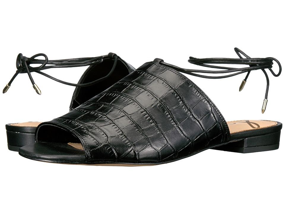 Sam Edelman Tai (Black Suraze Shiny Croco Leather) Women