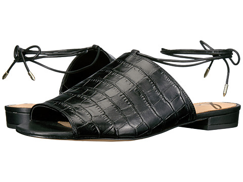 Sam Edelman Tai - Black Suraze Shiny Croco Leather