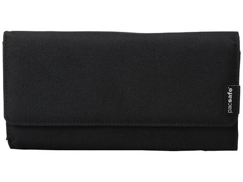 Pacsafe RFIDsafe LX200 RFID Blocking Clutch Wallet - Black