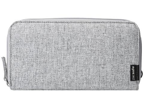 Pacsafe RFIDsafe LX250 RFID Blocking Zippered Travel Wallet - Tweed Grey