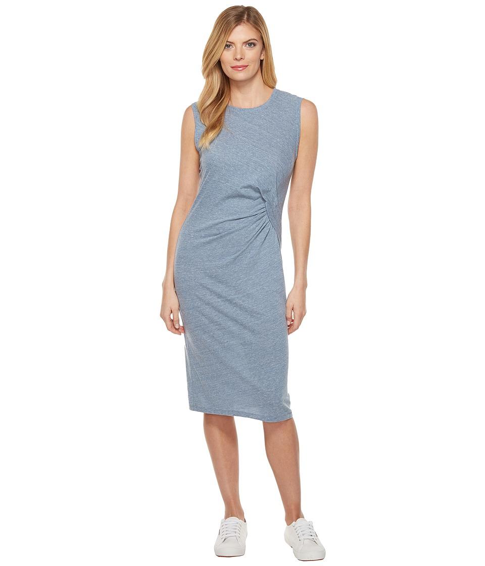 Splendid Tri-blend Jersey Pleat Dress (Dusk Blue) Women