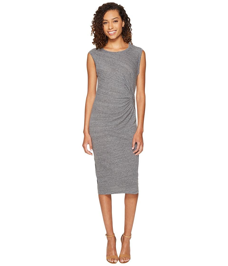 Splendid Tri-blend Jersey Pleat Dress (Heather Grey) Women
