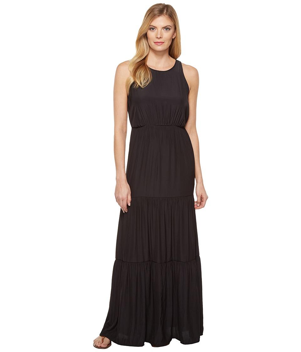 Splendid Tiered Maxi Dress (Black) Women