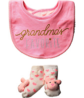 Mud Pie - Hello World Pink Bib Sock Set (Infant)