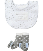 Mud Pie - Hello World Blue Bib Sock Set (Infant)
