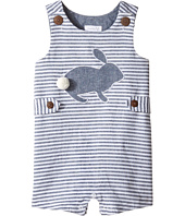Mud Pie - Bunny Chambray Stripe Shortall (Infant)