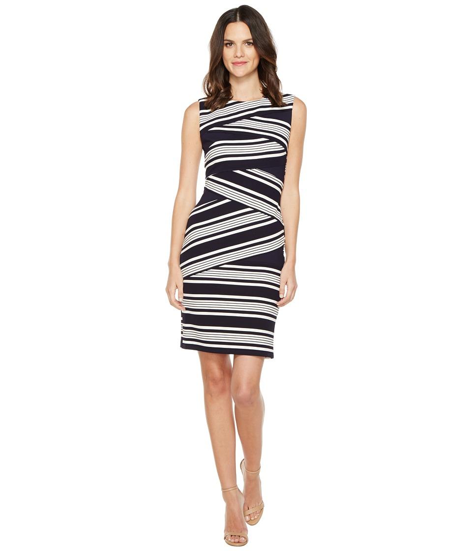 Adrianna Papell - Sleeveless Stripe Bodycon Dress