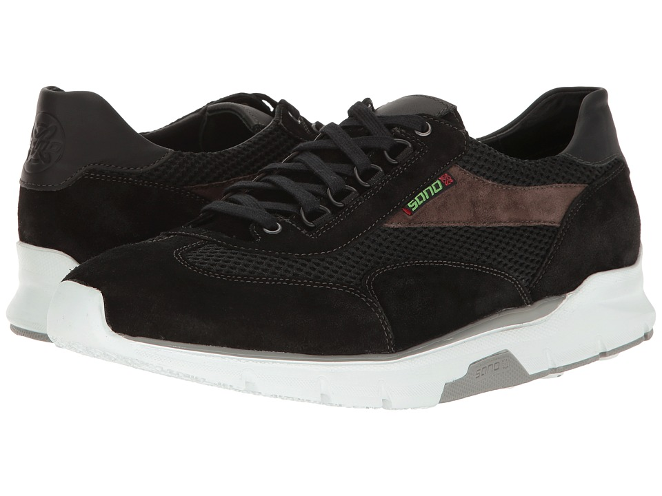 Mephisto Erik Air (Black/Dark Grey Suede/Black Polo/Air) ...