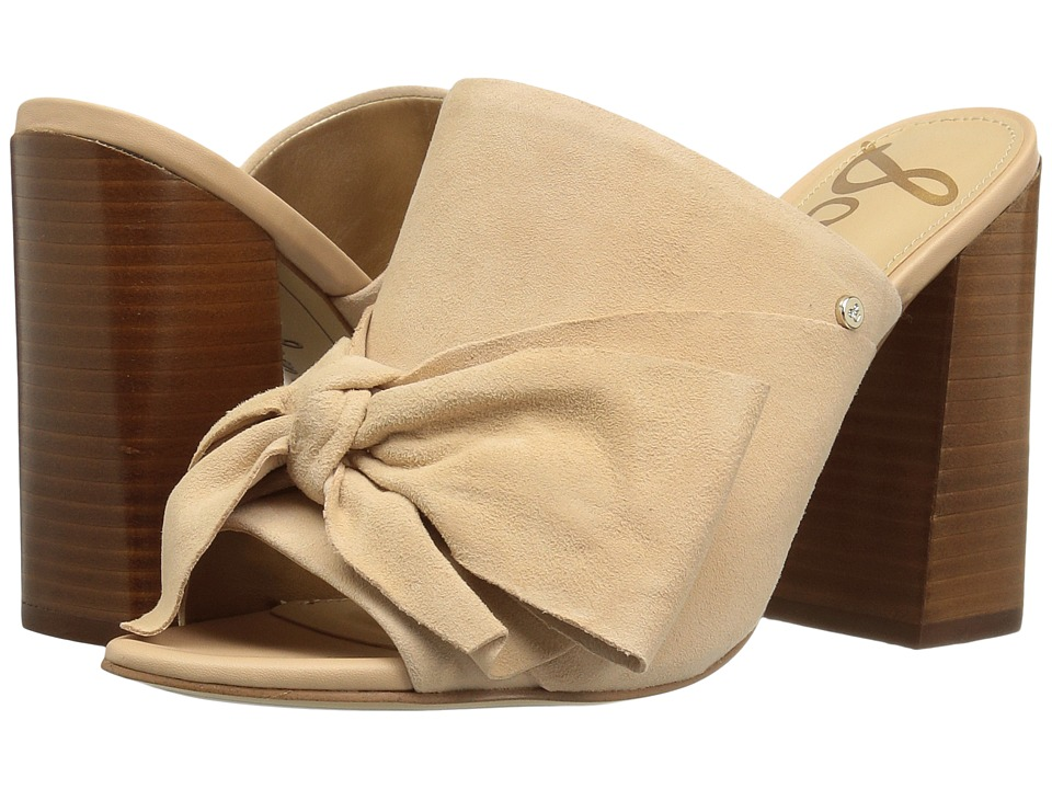 Sam Edelman - Yumi (Natural Naked Kid Suede Leather) Womens 1-2 inch heel Shoes