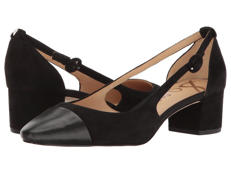 Sam Edelman - Leah (Black Kid Suede Leather/Black Nappa) Women's Dress Pull-on Boots