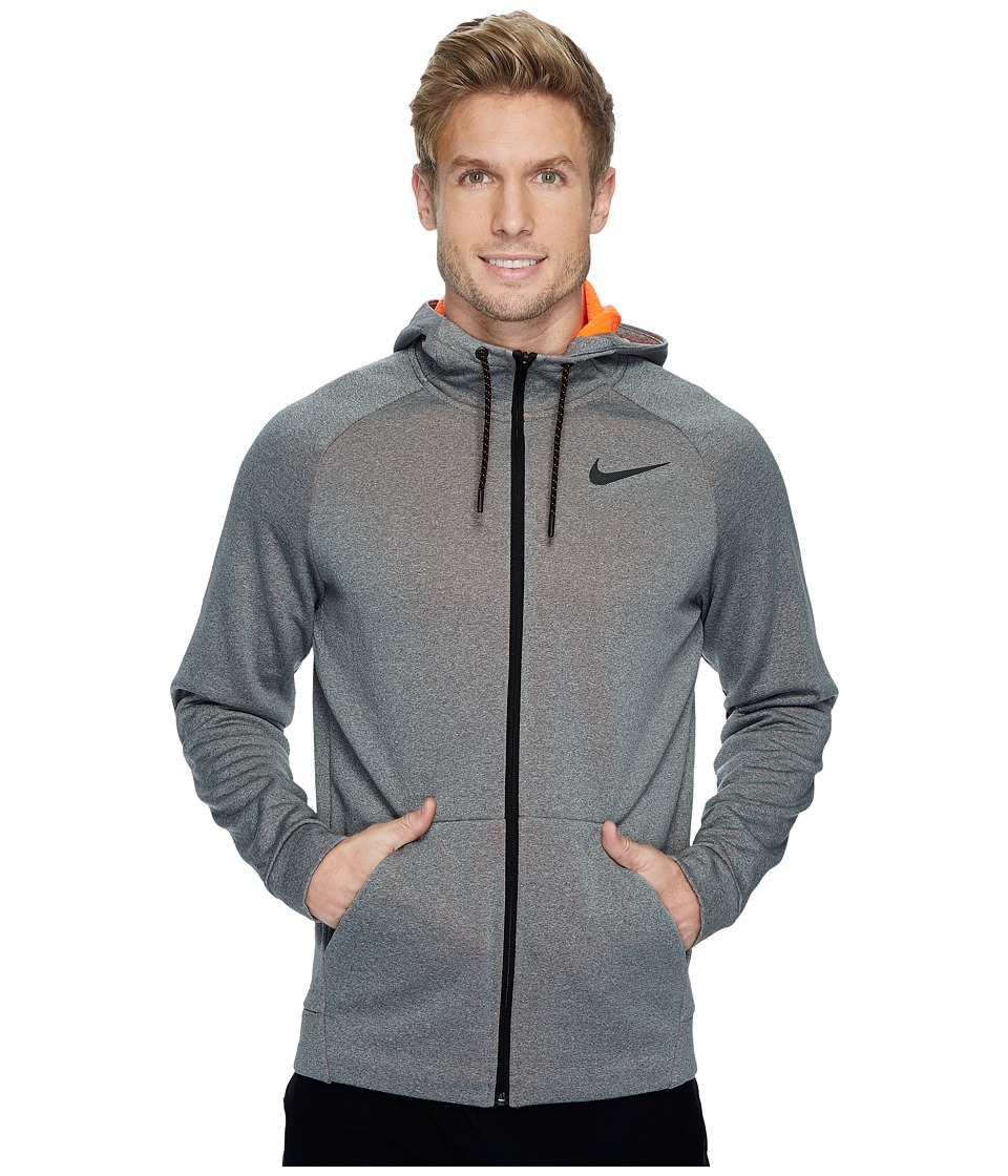 Nike Therma Sphere Full-Zip Training Jacket (Carbon Heather/Hyper Crimson/Black) Men