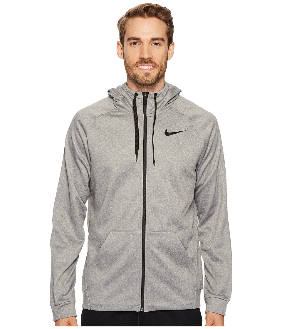 Nike Therma Full-Zip Training Hoodie (Carbon Heather/Black) Men
