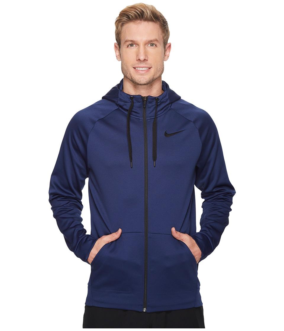 Nike Therma Full-Zip Training Hoodie (Binary Blue/Black) Men