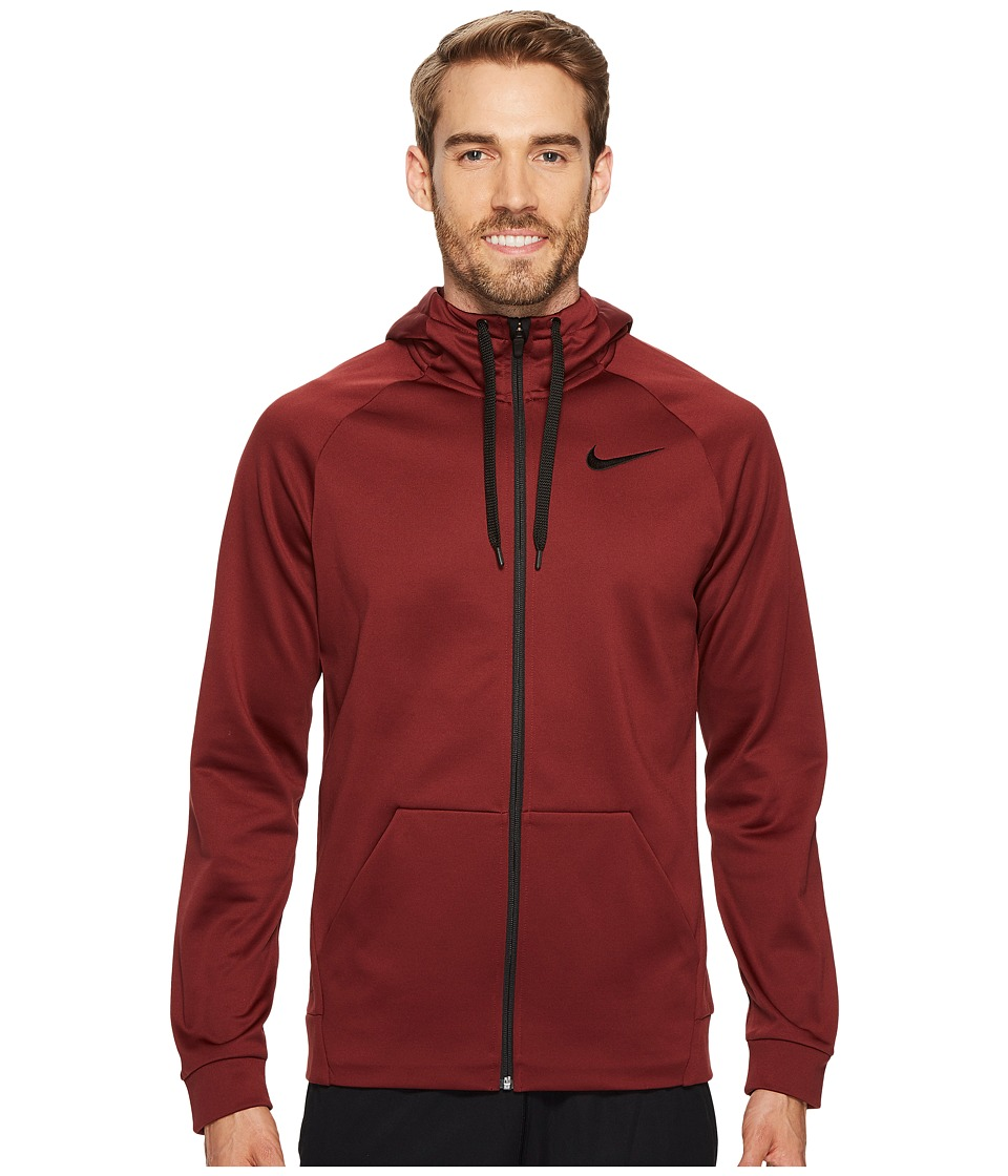 Nike Therma Full-Zip Training Hoodie (Dark Team Red/Black) Men