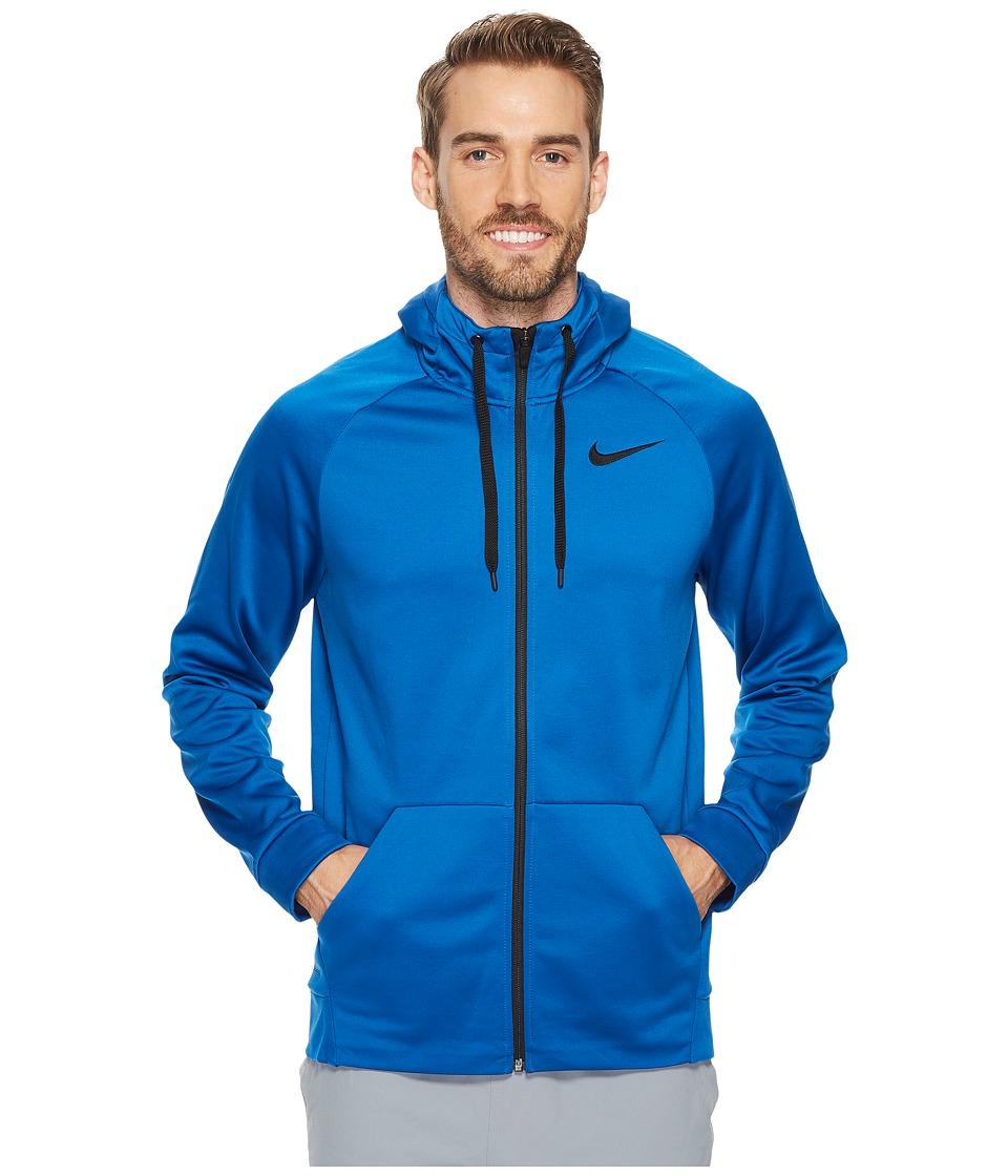 Nike Therma Full-Zip Training Hoodie (Blue Jay/Black) Men