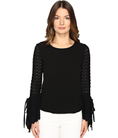 See by Chloe - Crepe Long Sleeve Lace Blouse
