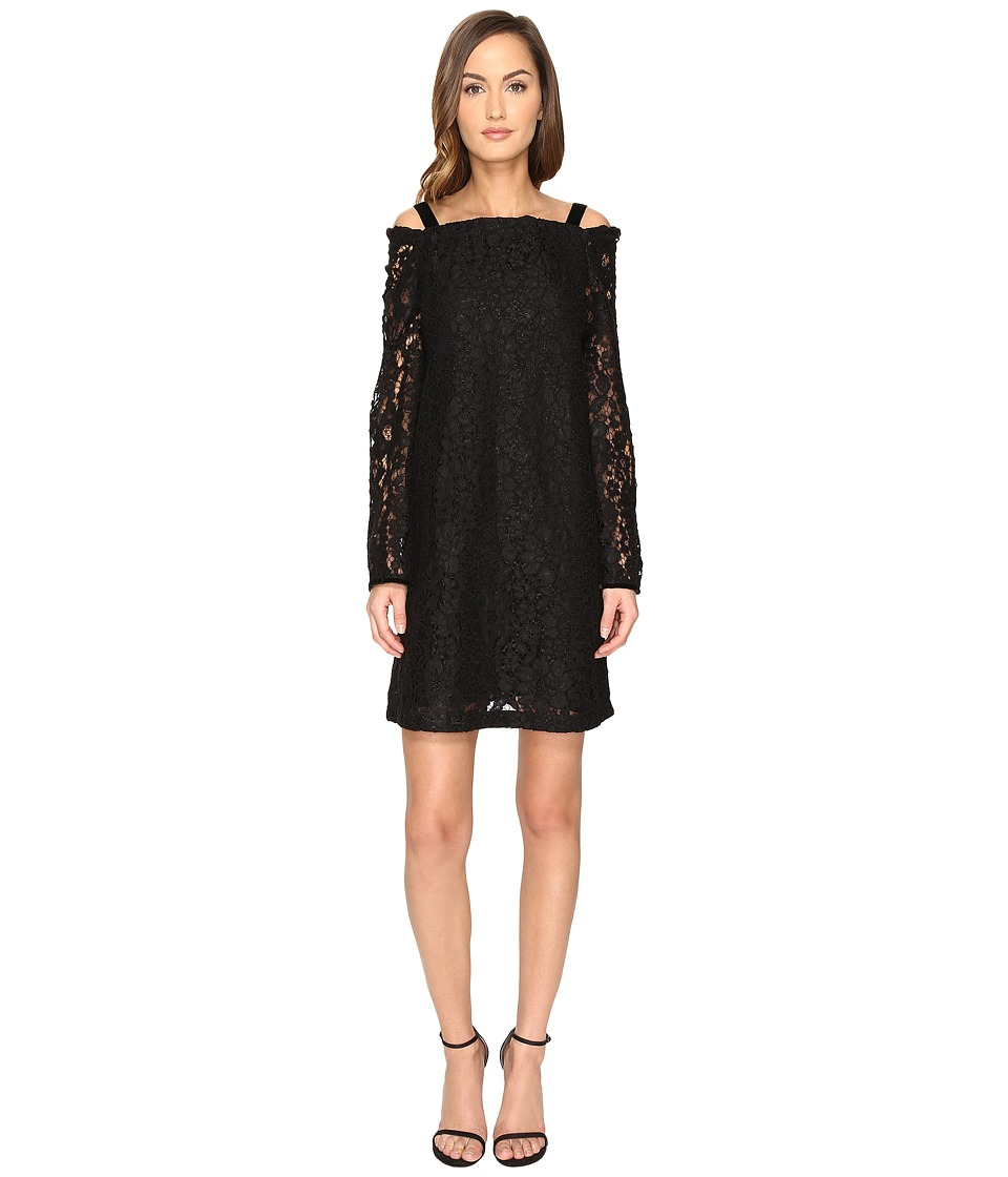 See by Chloe Lace Long Sleeve Straps Dress (Black) Women