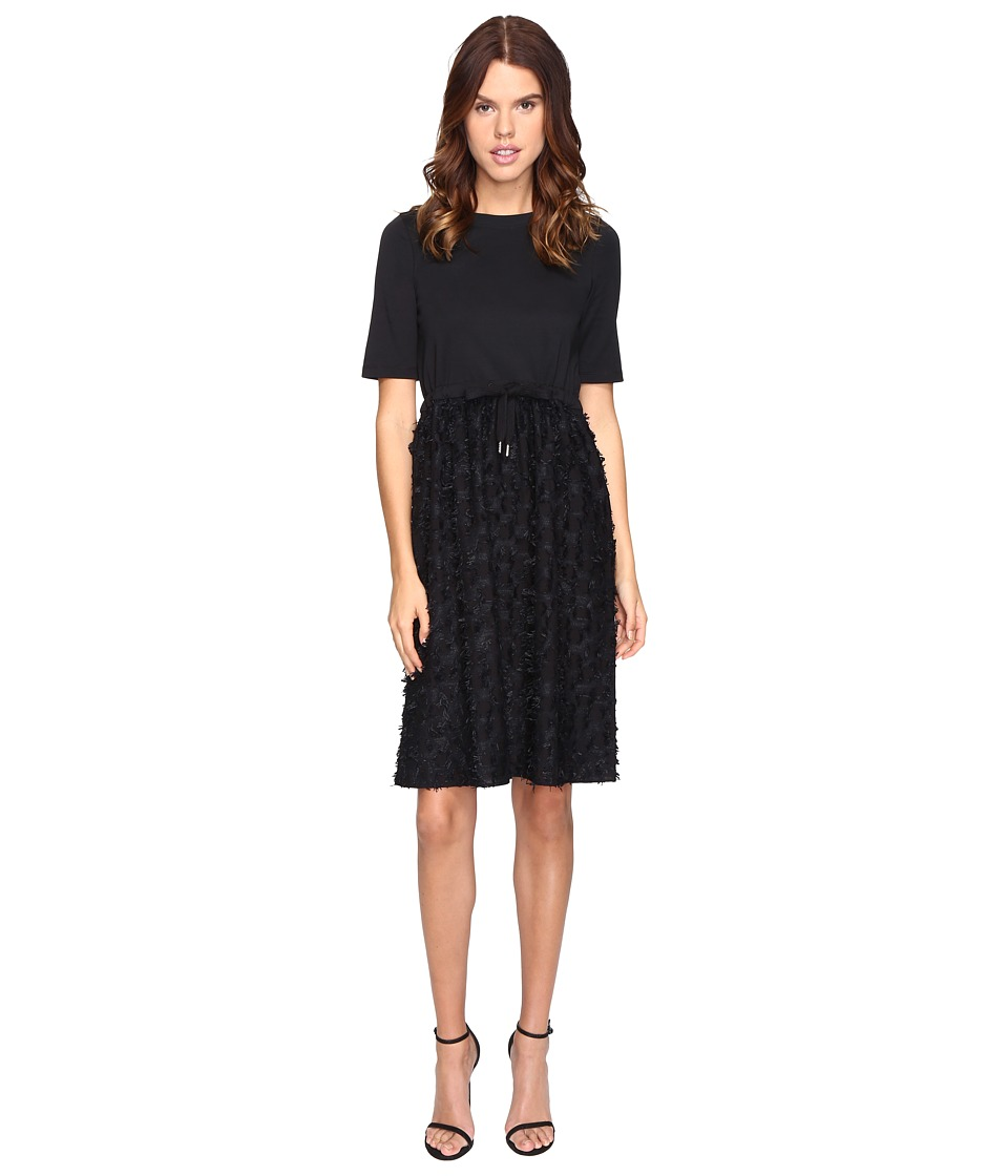 See by Chloe Cotton Embellished Drawstring Dress (Black) Women