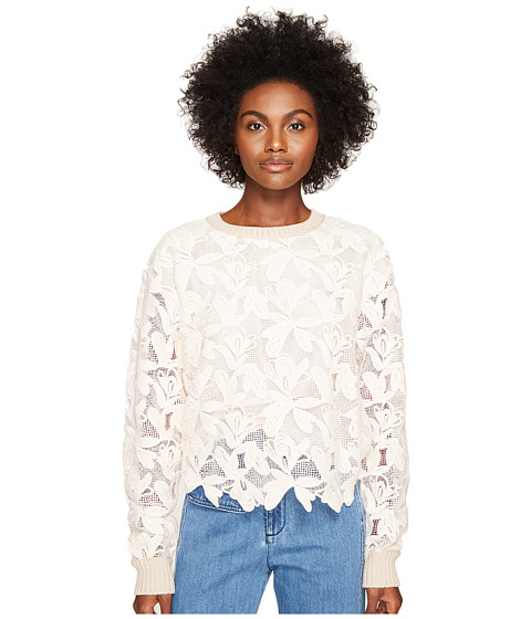 See by Chloe Knit Lace Front Sweater