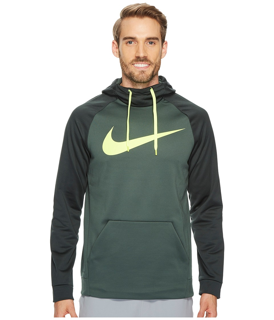 Nike Therma Training Pullover Hoodie (Vintage Green/Outdoor Green/Volt) Men