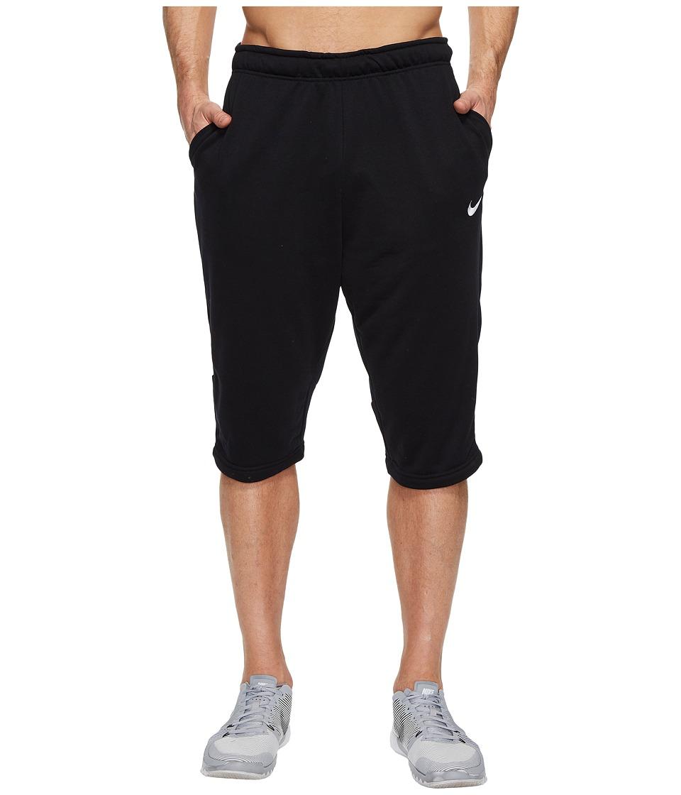 Nike Dry Fleece Long Training Short (Black/Wolf Grey) Men
