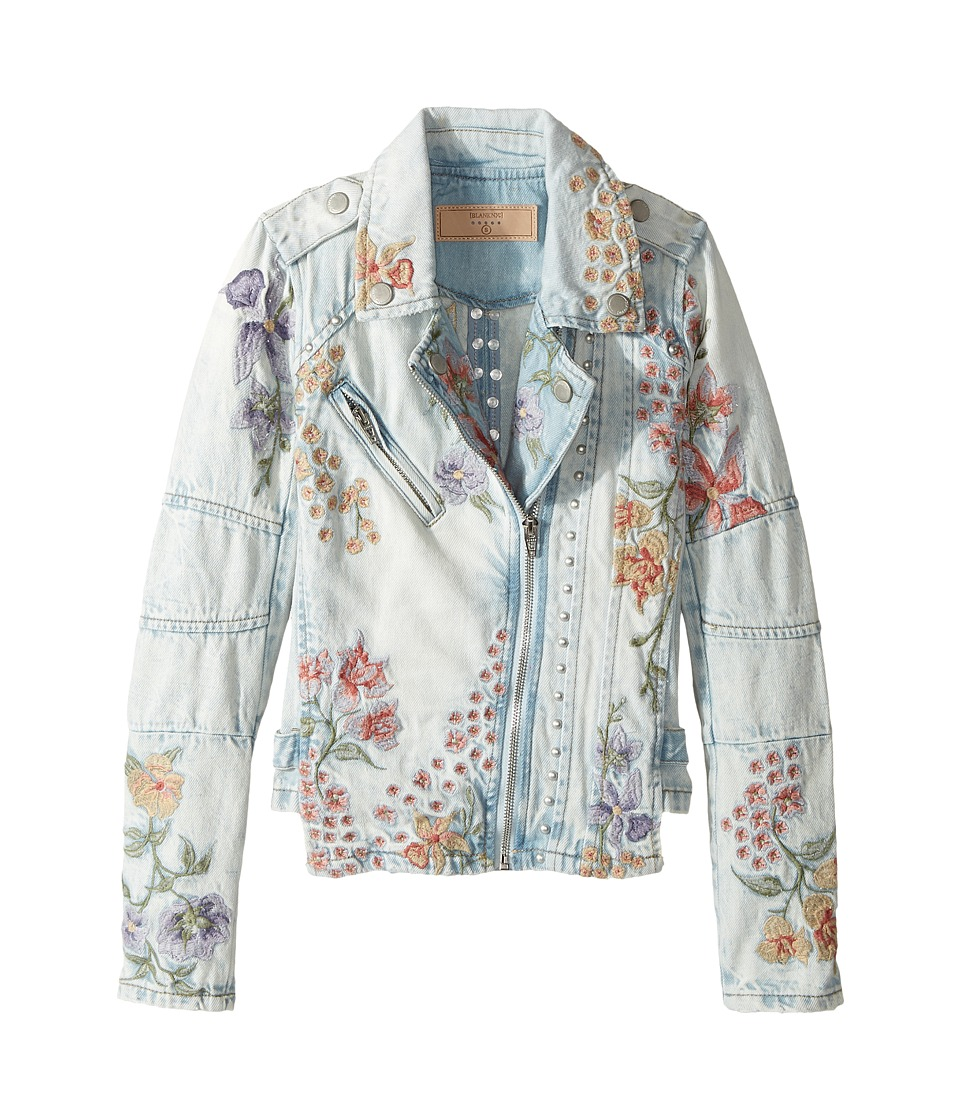 Blank NYC Kids - Denim Floral Embroidered Jacket in Sitting Pretty
