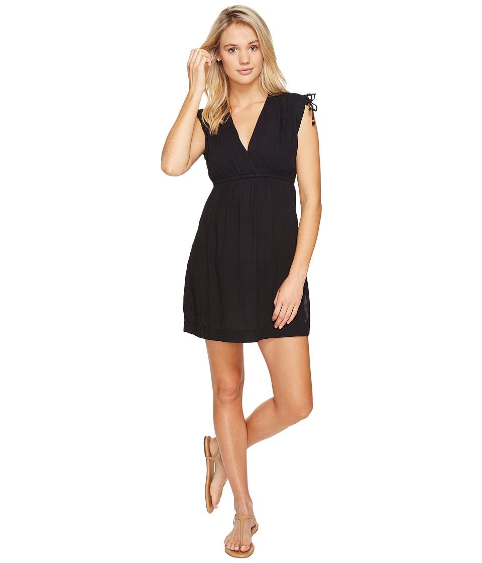 LAUREN Ralph Lauren Crushed Farrah Dress Cover-Up (Black)