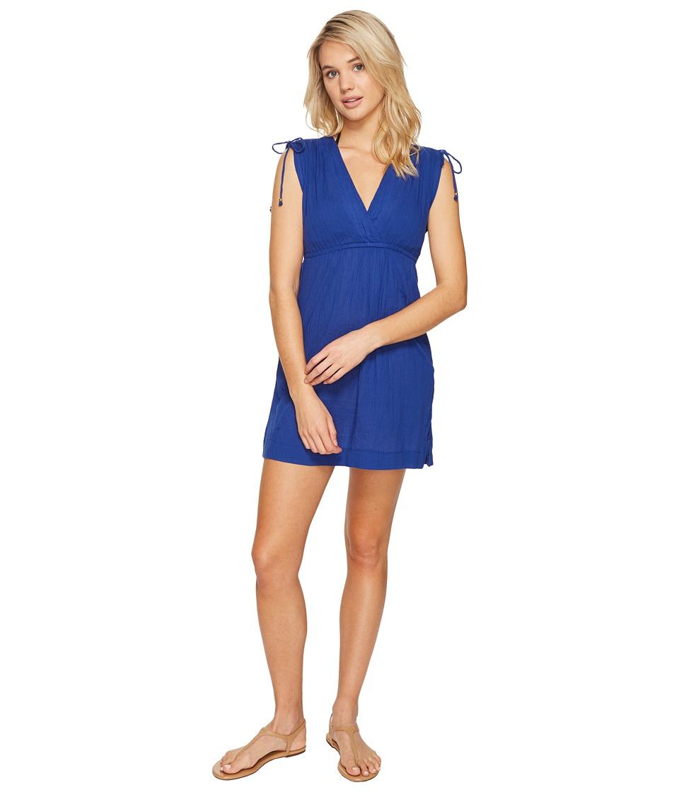 LAUREN Ralph Lauren Crushed Farrah Dress Cover-Up (Ocean Blue) Women