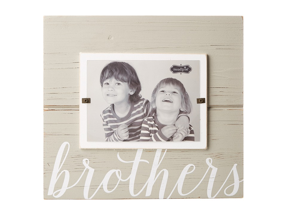 Mud Pie - Brothers Frame (White) Accessories Travel