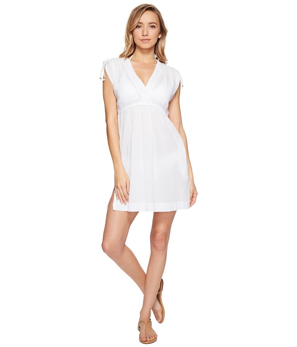 LAUREN Ralph Lauren Crushed Farrah Dress Cover-Up (White) Women