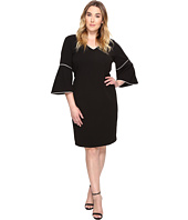 Calvin Klein Plus - Plus Size Bell Sleeve Sheath Dress