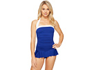 Bel Aire Solid Skirted Mio One-Piece
