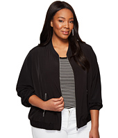 Calvin Klein Plus - Plus Size Solid Bomber Jacket