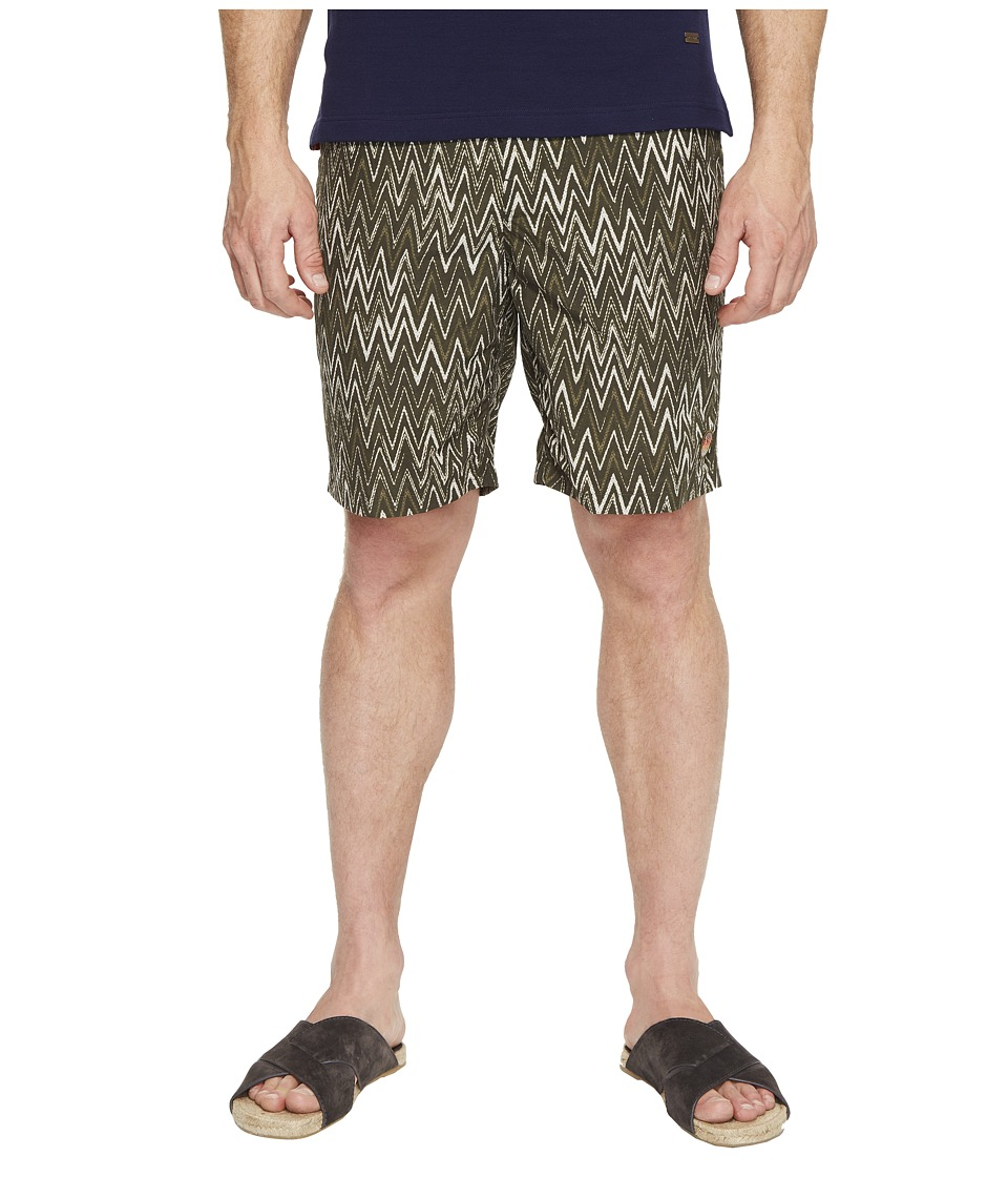 Missoni Mare Printed Nylon Bicolor Zigzag Swim Trunks (Gr...