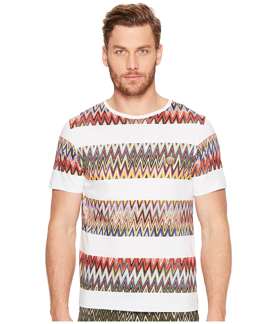 Missoni Mare Printed Rigata T-Shirt (White) Men's T Shirt