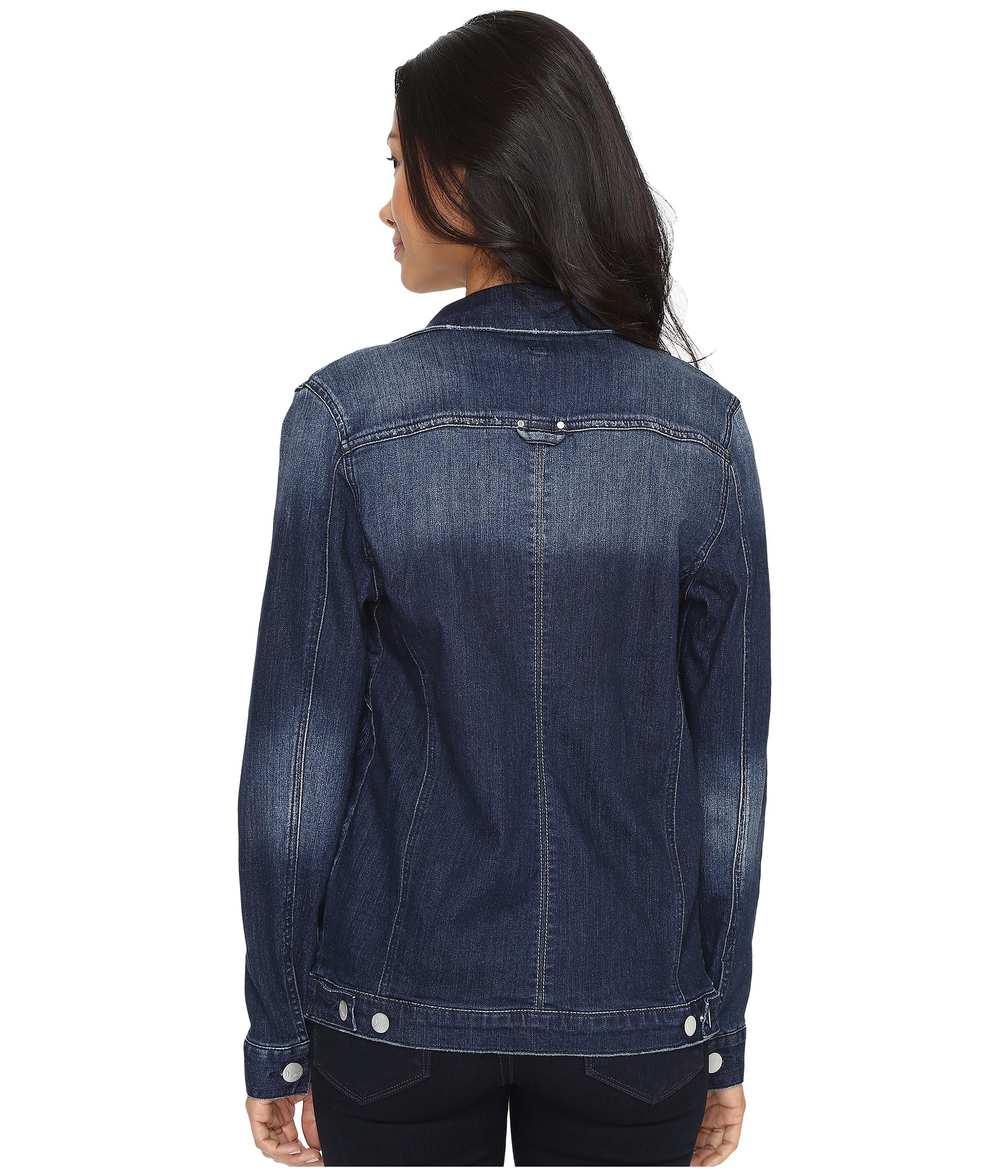 Jag Jeans Lowen Laser Mission Denim Jacket In Rapid Dark - Zappos.com Free Shipping BOTH Ways