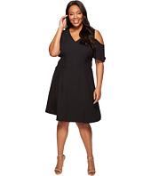Calvin Klein Plus - Plus Size Cold Shoulder Flutter Sleeve Dress