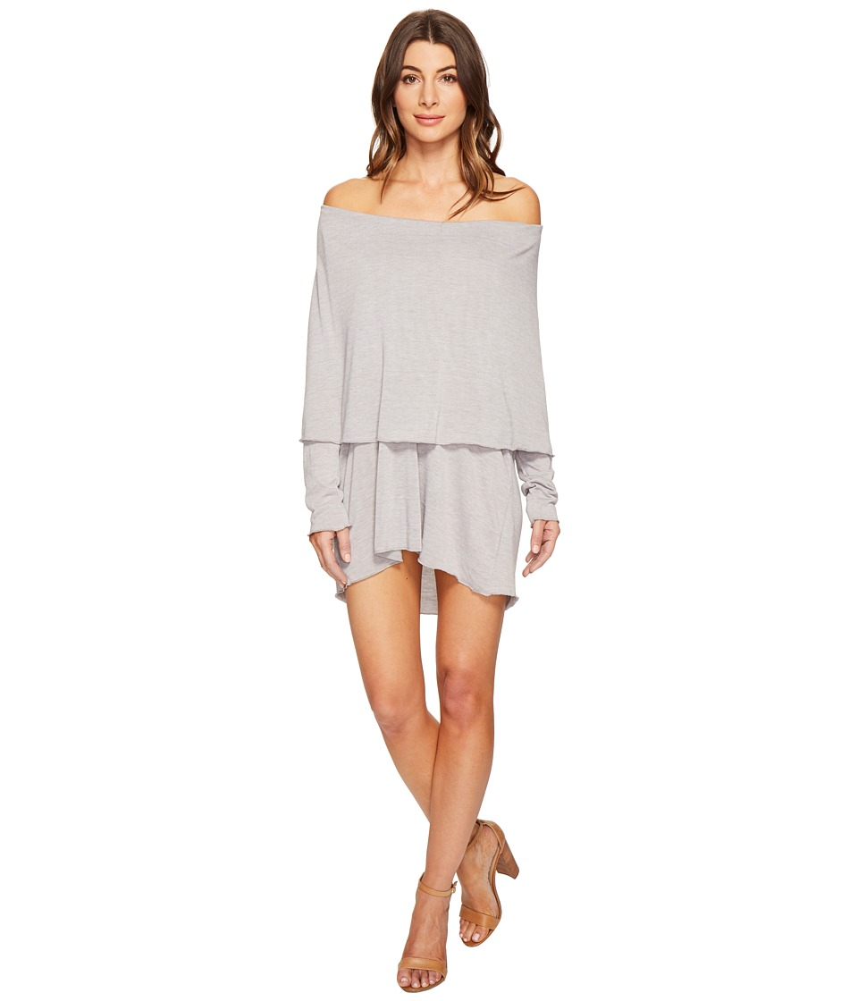Culture Phit Austen Off the Shoulder Fold-Over Dress (Heather Grey) Women
