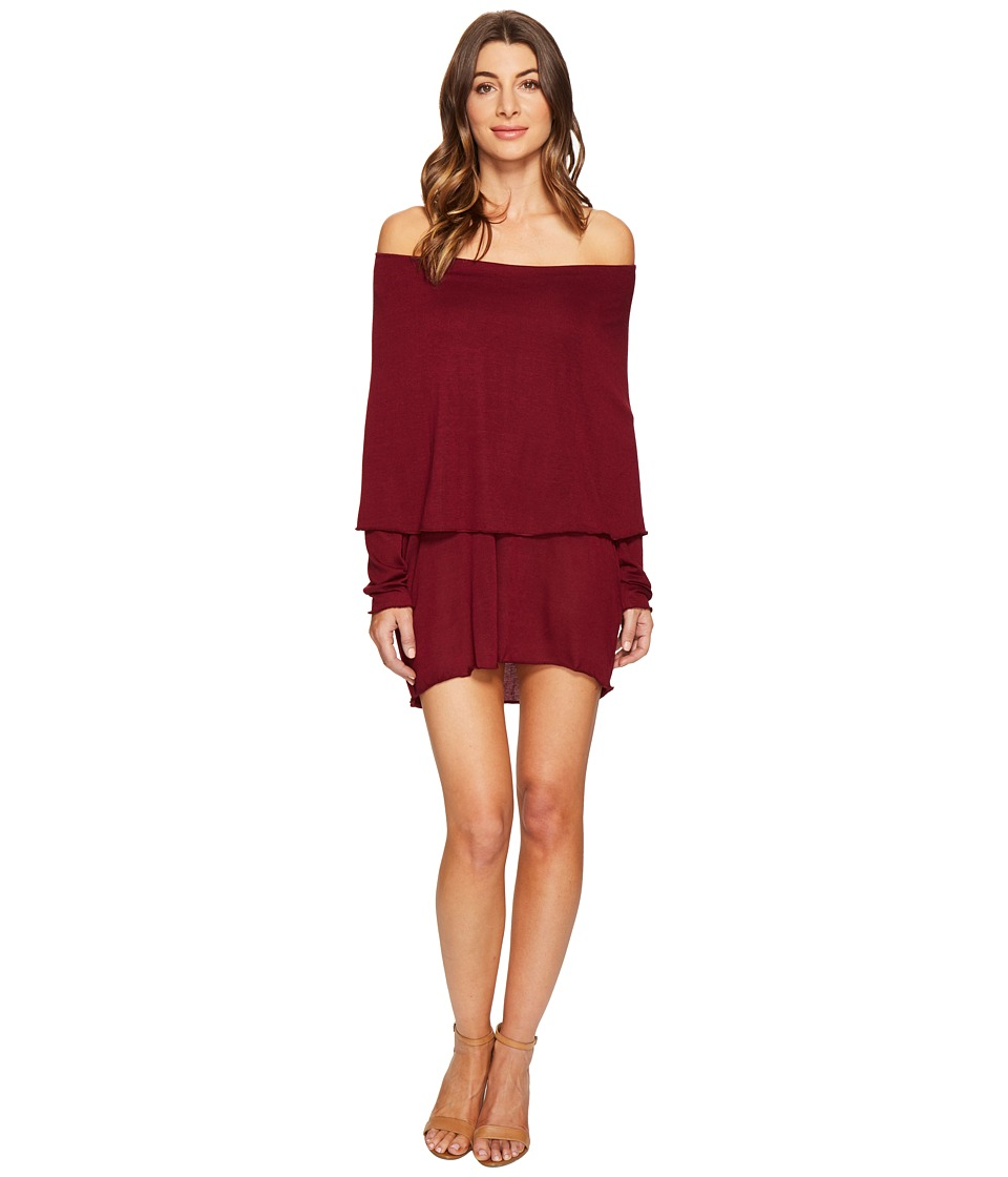 Culture Phit Austen Off the Shoulder Fold-Over Dress (Wine) Women