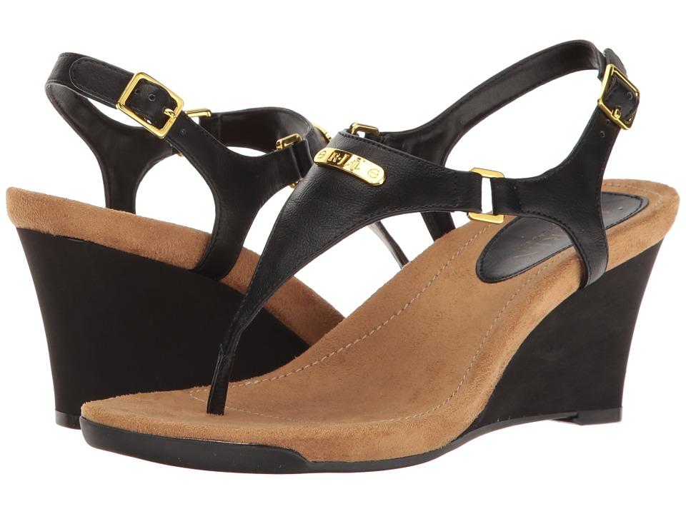 LAUREN Ralph Lauren - Nikki (Black) Womens Wedge Shoes