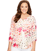 Calvin Klein Plus - Plus Size 3/4 Sleeve with Hardware
