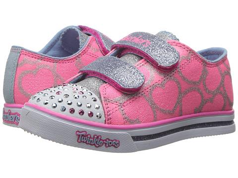 SKECHERS KIDS Sparkle Glitz 10709N Lights (Toddler) - Pink/Light Blue