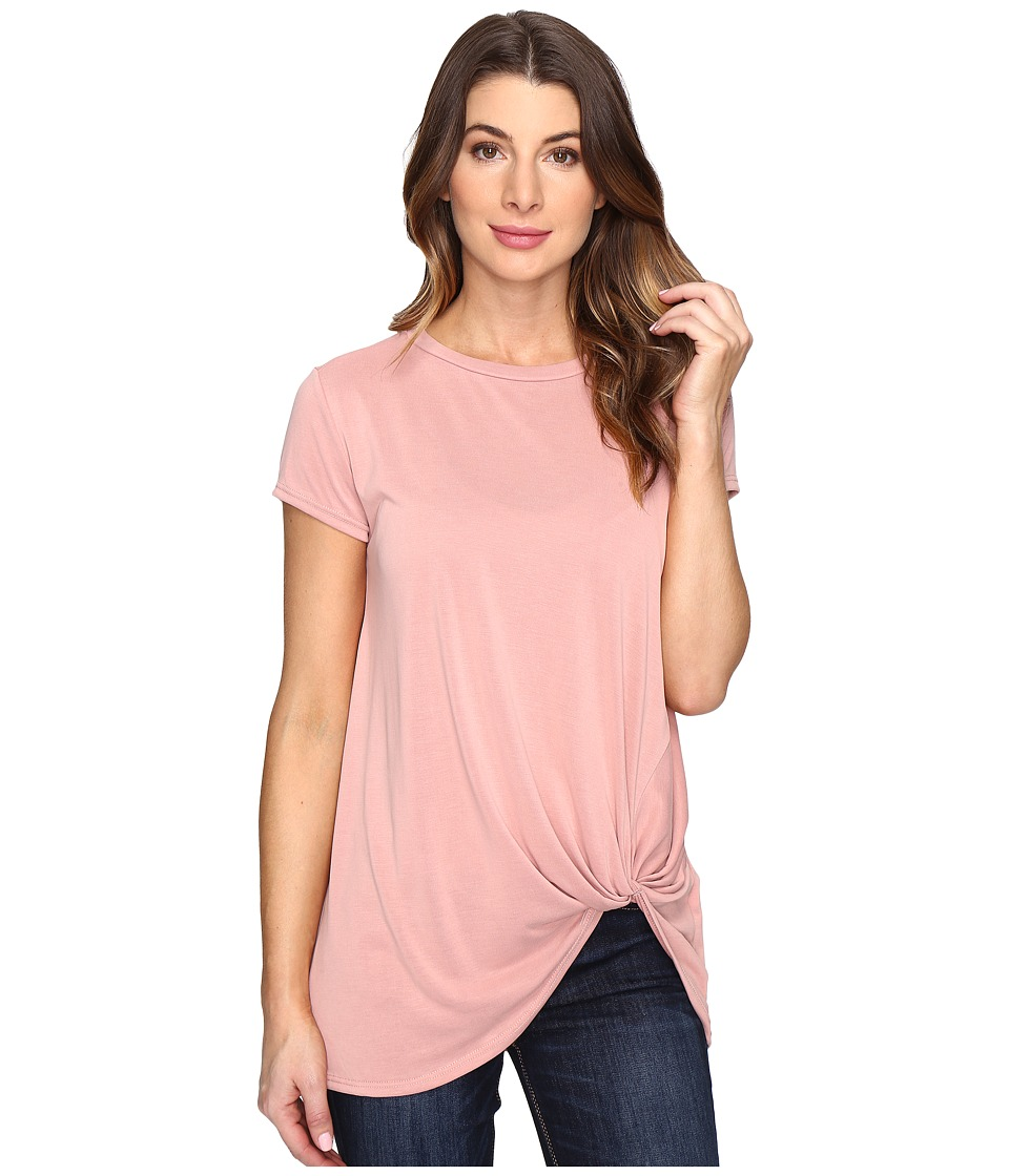 Brigitte Bailey Knot Front T-Shirt (Dust Pink) Women