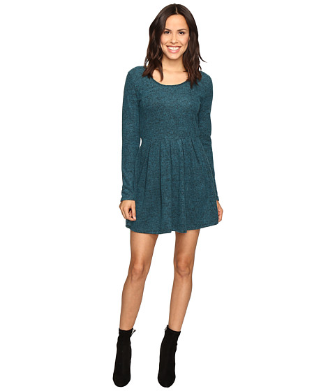 Brigitte Bailey Rebecca Fuzzy Long Sleeve Dress - Teal