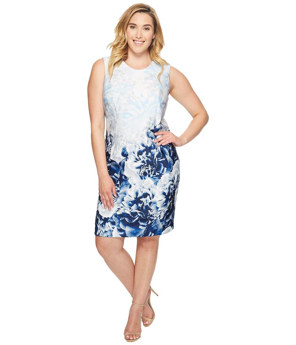 Calvin Klein Plus - Plus Size Printed Scuba Sheath Dress
